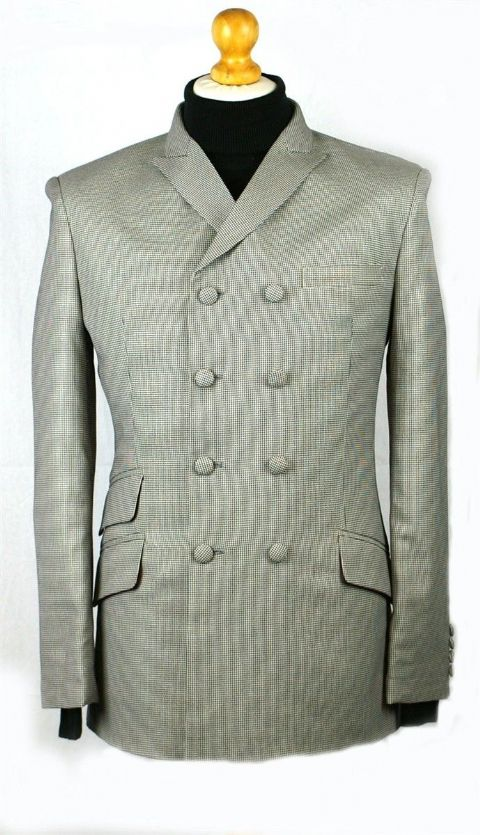 """Farlowe"" Double Breasted Small Dogtooth Jacket"